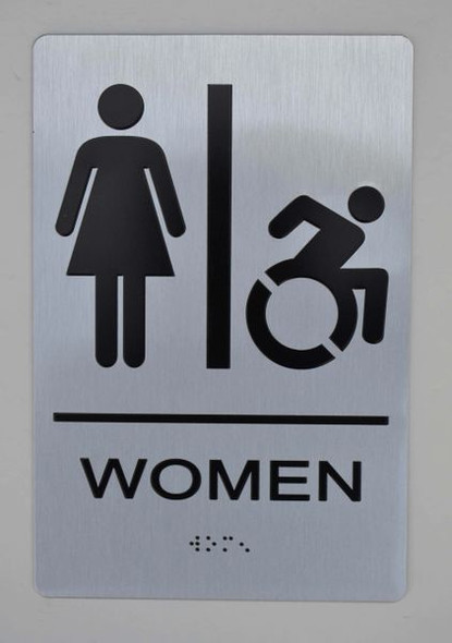 WOMEN ACCESSIBLE RESTROOM Sign ADA Sign -Tactile Signs  The sensation line  Ada sign
