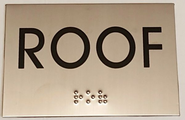ROOF Sign -Tactile Signs  STAINLESS STEEL  Braille sign