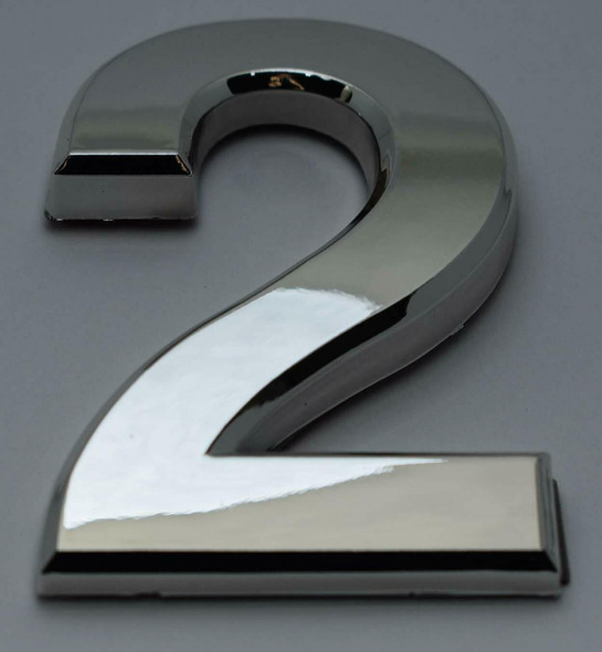 2 PCS - Apartment Number Sign/Mailbox Number Sign, Door Number Sign. Number 2 Silver,3D