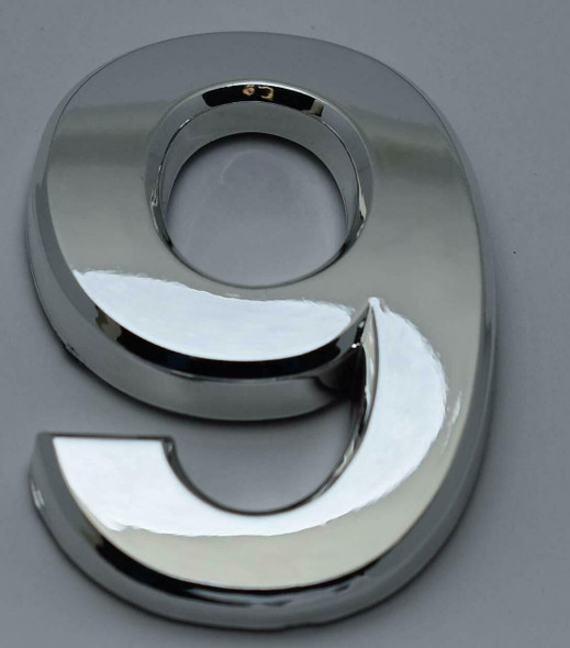 2 PCS - Apartment Number Sign/Mailbox Number Sign, Door Number Sign. Number 9 Silver,3D