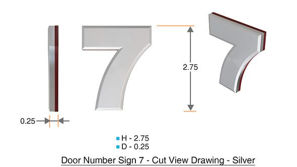 2 PCS - Apartment Number Number 7
