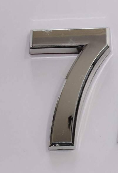 2 PCS - Apartment Number Sign/Mailbox Number Sign, Door Number Sign. Number 7 Silver,3D