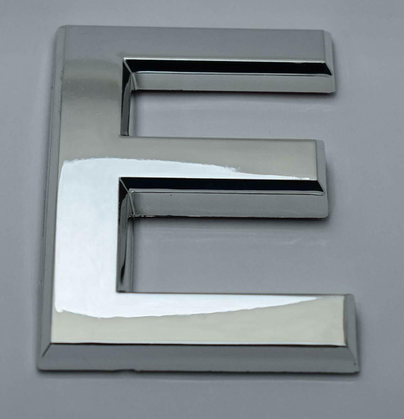1 PCS - Apartment Number Sign/Mailbox Number Sign, Door Number Sign. Letter E Silver,3D