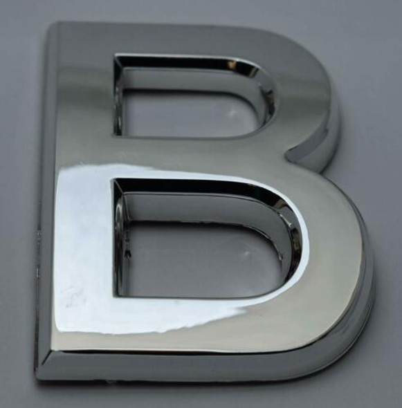 1 PCS - Apartment Number Sign/Mailbox Number Sign, Door Number Sign. Letter B Silver,3D