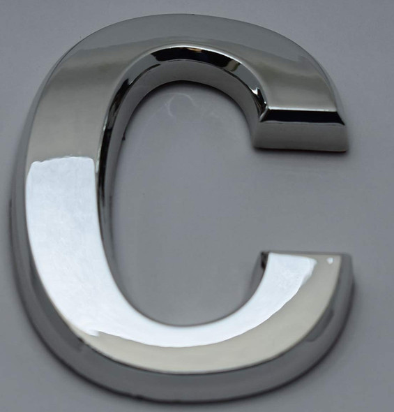 1 PCS - Apartment Number Sign/Mailbox Number Sign, Door Number Sign. Letter C Silver,3D