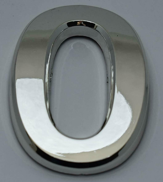 1 PCS - Apartment Number Sign/Mailbox Number Sign, Door Number Sign. Letter O Silver,3D