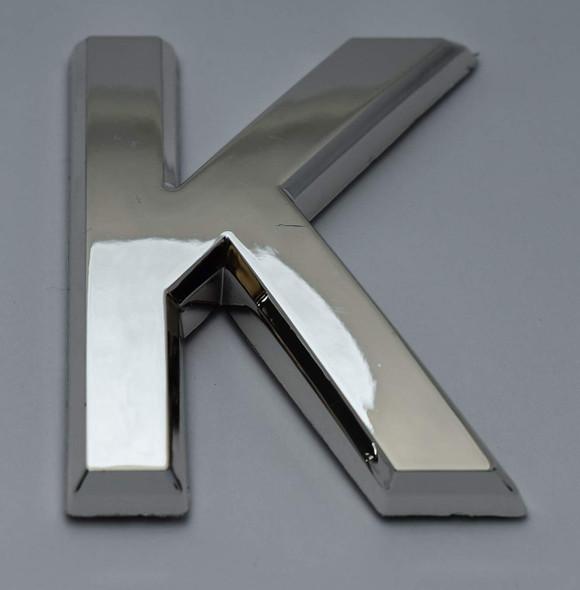 1 PCS - Apartment Number Sign/Mailbox Number Sign, Door Number Sign. Letter K Silver,3D