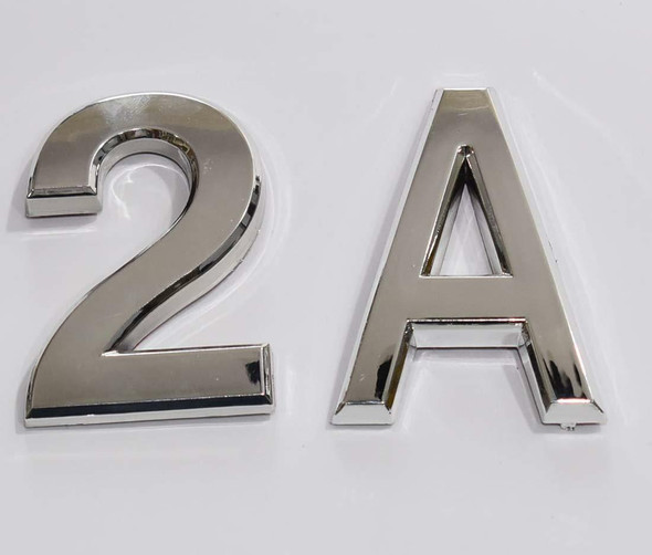 1 PCS - Apartment Number Sign/Mailbox Number Sign, Door Number Sign. Letter 2A Silver,3D