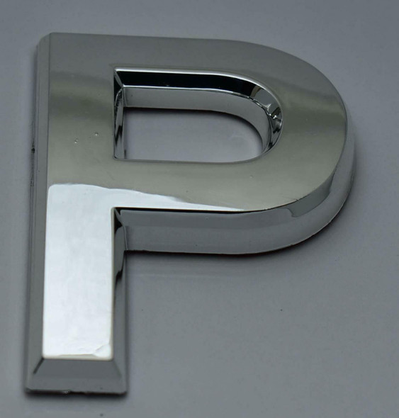 1 PCS - Apartment Number Sign/Mailbox Number Sign, Door Number Sign. Letter P Silver,3D