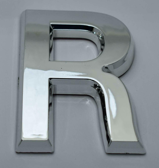 1 PCS - Apartment Number Sign/Mailbox Number Sign, Door Number Sign. Letter R Silver,3D
