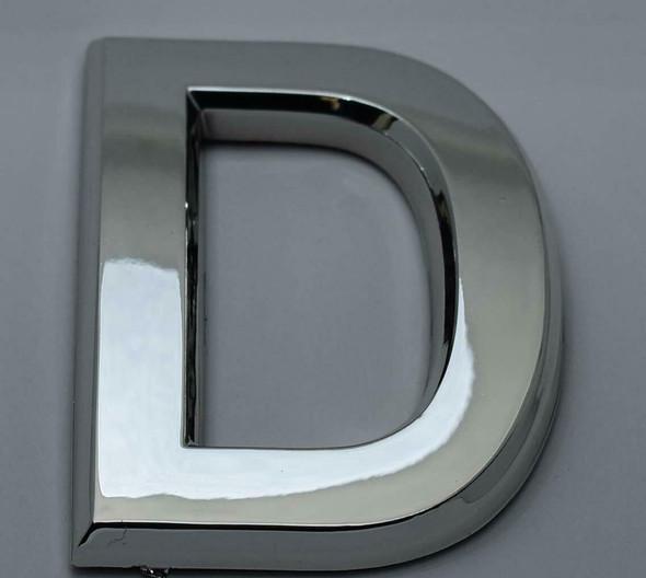 1 PCS - Apartment Number Sign/Mailbox Number Sign, Door Number Sign. Letter D Silver,3D