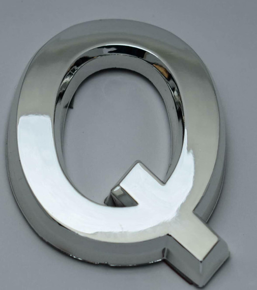 1 PCS - Apartment Number Sign/Mailbox Number Sign, Door Number Sign. Letter Q Silver,3D