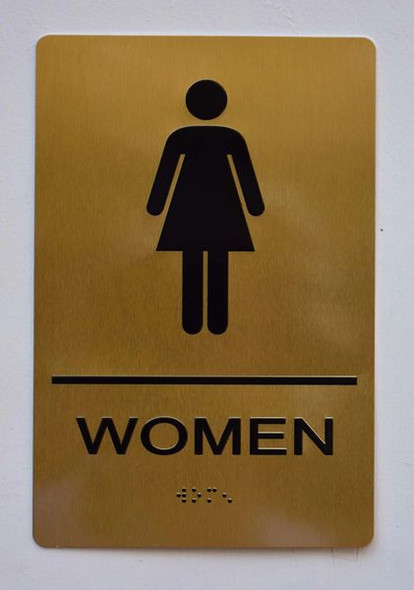 WOMEN Restroom Sign -Tactile Signs Tactile Signs   Ada sign