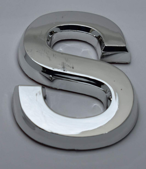 1 PCS - Apartment Number Sign/Mailbox Number Sign, Door Number Sign. Letter S Silver,3D
