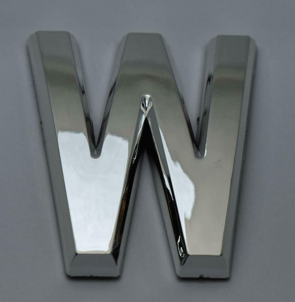 1 PCS - Apartment Number Sign/Mailbox Number Sign, Door Number Sign. Letter W Silver,3D