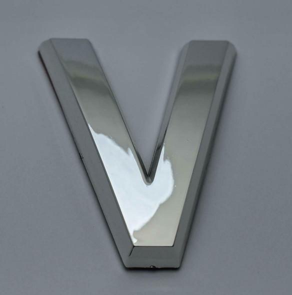1 PCS - Apartment Number Sign/Mailbox Number Sign, Door Number Sign. Letter V Silver,3D