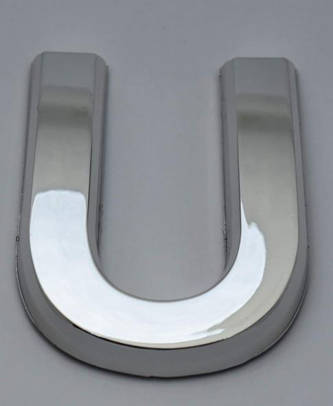 1 PCS - Apartment Number Sign/Mailbox Number Sign, Door Number Sign. Letter U Silver,3D