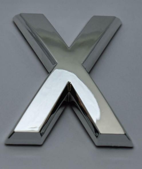 1 PCS - Apartment Number Sign/Mailbox Number Sign, Door Number Sign. Letter X Silver,3D