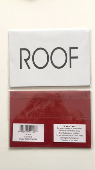 FLOOR NUMBER Signage - ROOF Signage