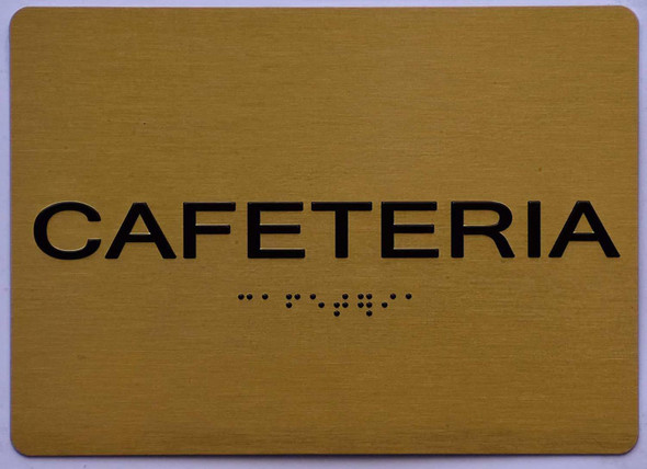 Cafeteria Sign -Gold,