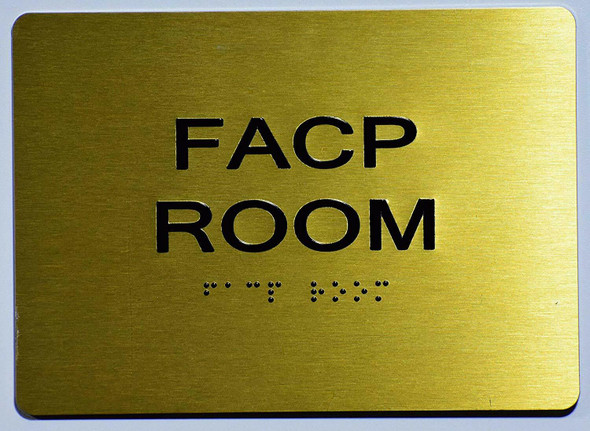 FACP Sign -Tactile Signs Tactile Signs  The Sensation line  Braille sign