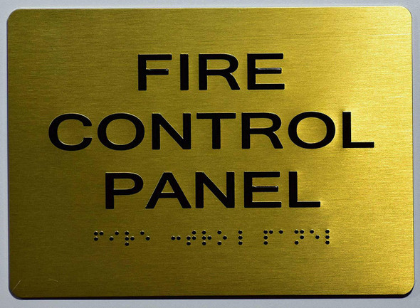 FIRE Control Panel Sign - Gold,
