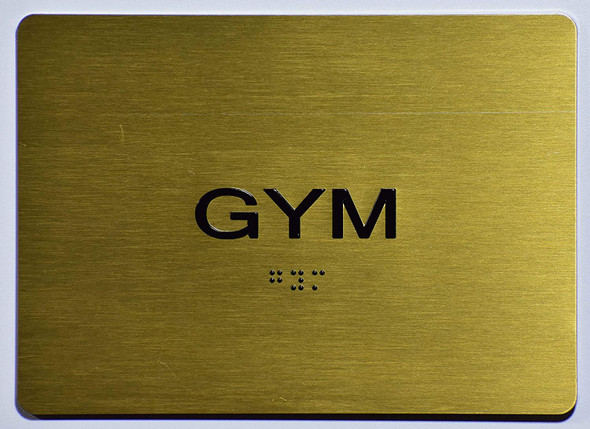 Gym Sign -Tactile Signs   The Sensation line  Braille sign
