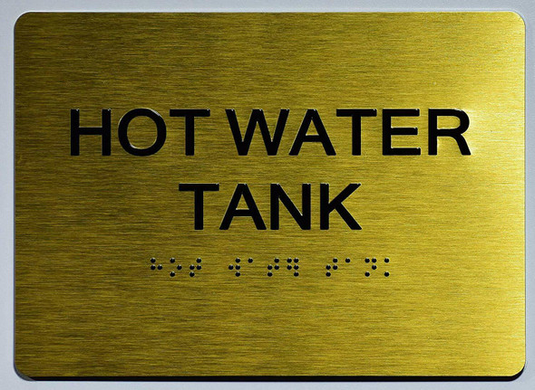 HOT Water Tank Sign -Tactile Signs   The Sensation line  Braille sign
