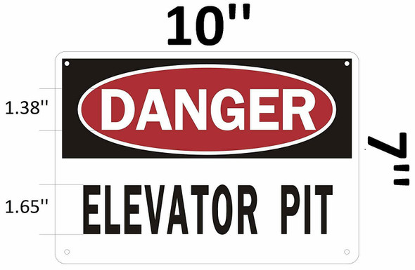 Danger Elevator Pit Sign
