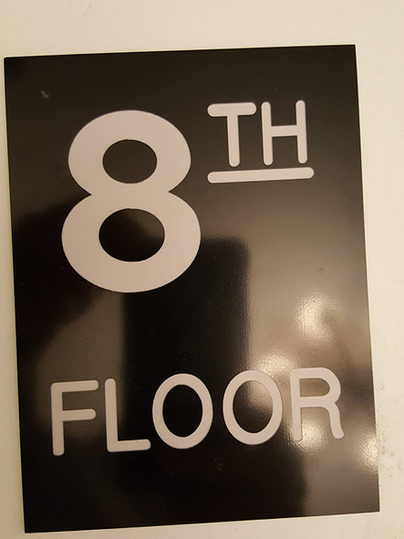 Floor number Signage - one (1) Engraved (PLASTIC)