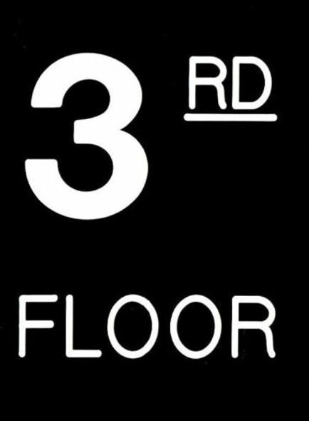Floor number Signage- Three (3) Signage Engraved (PLASTIC)
