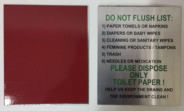 DO NOT FLUSH TOILET PAPER SIGN for Building