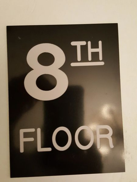 Floor number Eight (8) Signage Engraved (PLASTIC)