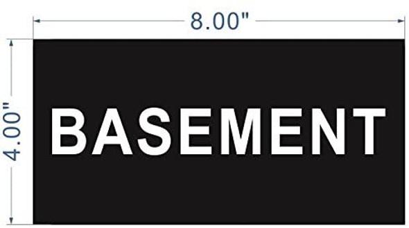 Floor number Signage -Basement Signage Engraved (PLASTIC)