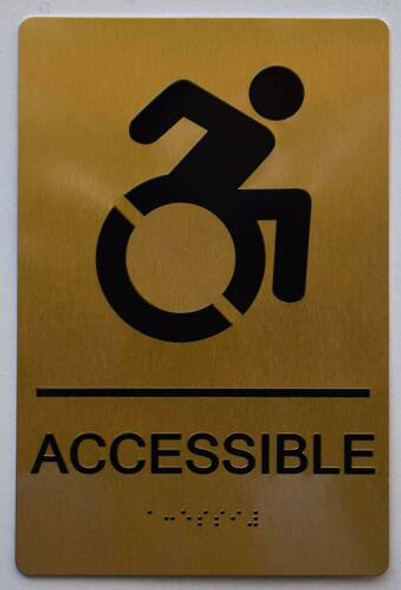ACCESSIBLE Sign - Gold,