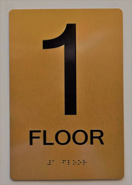 Floor 1 Sign -Tactile Signs Tactile Signs  1ST Floor Sign -Tactile Signs Tactile Signs   The Sensation line  Braille sign