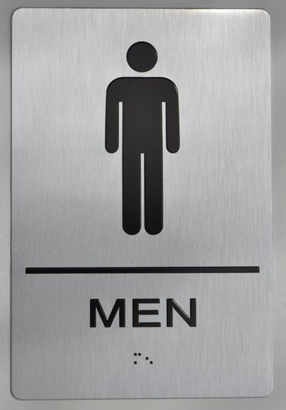 MEN RESTROOM Sign ADA Sign -Tactile Signs  The sensation line  Ada sign