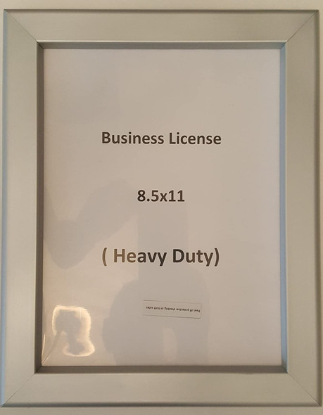 Business License Frame 8.5 x 11