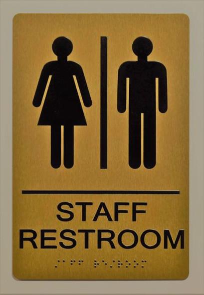 STAFF Restroom Sign for Building