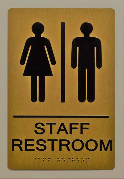 STAFF Restroom Sign -Tactile Signs Tactile Signs   Ada sign