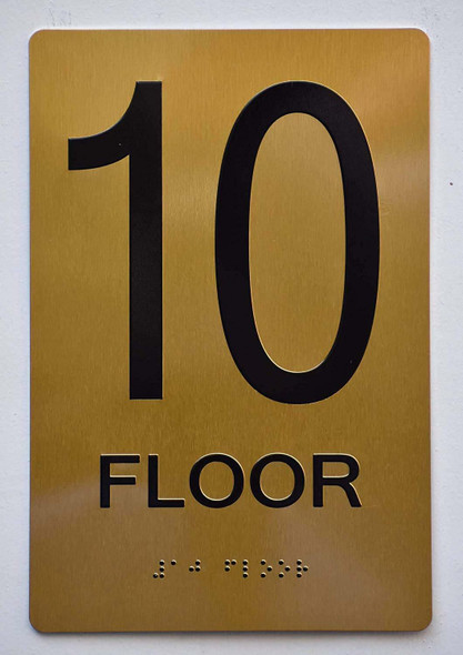 Floor 10 Sign -Tactile Signs Tactile Signs  10th Floor Sign -Tactile Signs Tactile Signs   The Sensation line Ada sign