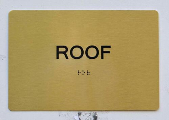 ROOF Sign- Gold,