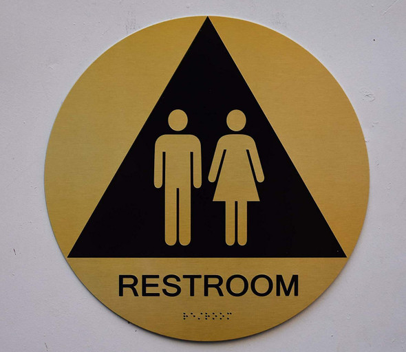 Unisex Restroom CA 128  Tactile Signs  The Sensation line Ada sign