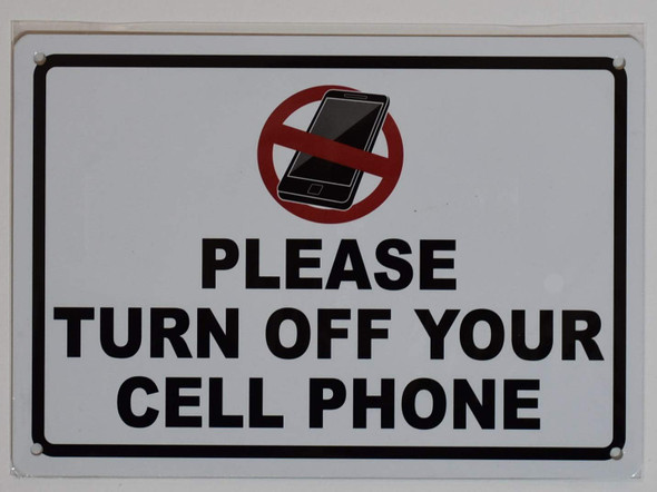 Please Turn Off Your Cell Phone Signage