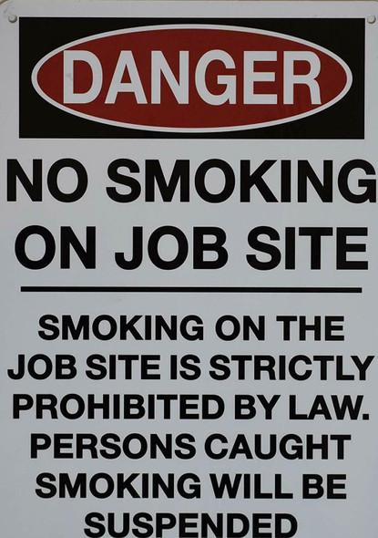 No Smoking on Job site Sign