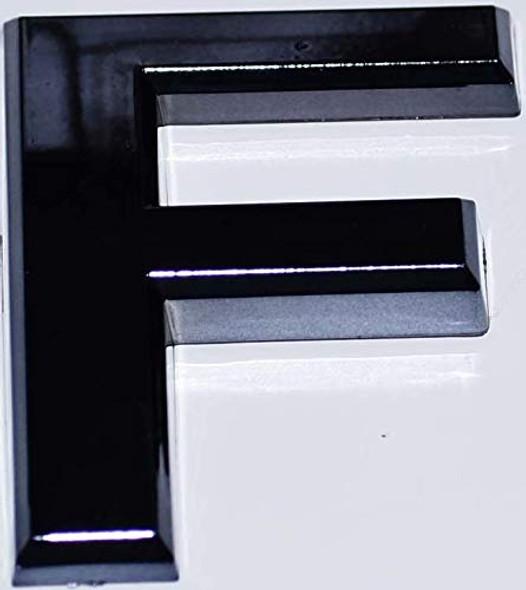 1 PCS - Apartment Number Sign/Mailbox Number Sign, Door Number Sign. Letter F