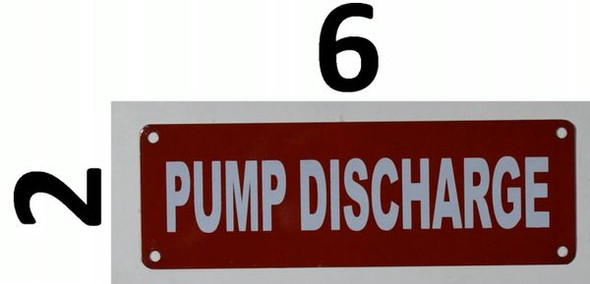 Pump Discharge Signage