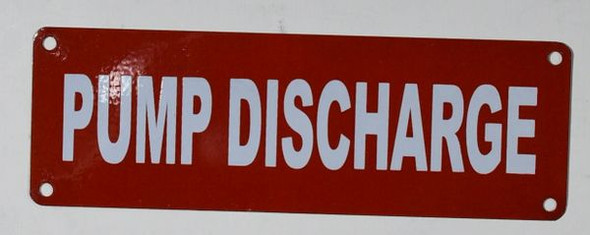 Pump Discharge Sign