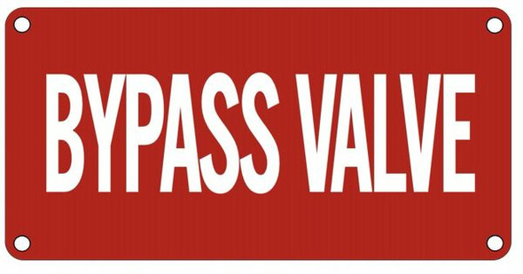 Bypass Valve Signage
