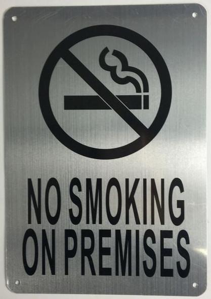 NO SMOKING ON PREMISES HPD SIGN